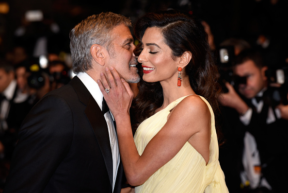 "Actor George Clooney and his wife Amal Clooney attend the ""Money Monster"" premiere during the 69th annual Cannes Film Festival at the Palais des Festivals on May 12, 2016 in Cannes, France."