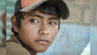 LatinAmerican teen at the southern border of Mexico.