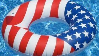 American Flag Inflatable Pool Tube.