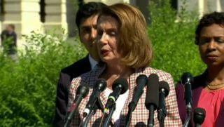 Nancy Pelosi calls people of faith hypocrites for wanting to follow the law.