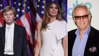 Peter Fonda calls for Barron to be ripped from Melania Trump's arms.
