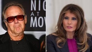 Melania Trump calls the Secret Service after Peter Fonda threatens her son.