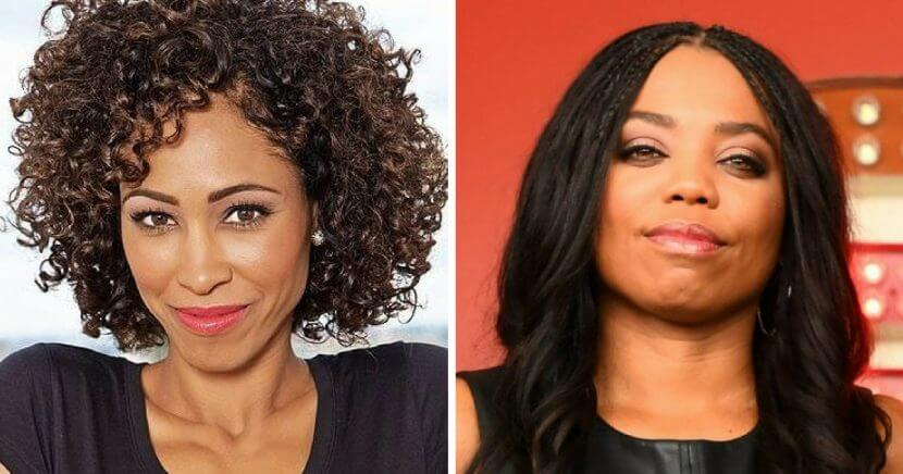 """SportsCenter"" host Sage Steele, left, and former ""SC6"" host Jemele Hill."