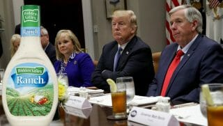 U.S. President Donald Trump attends a working lunch with U.S. governors at the White House June 21, 2018, in Washington, D.C., where he reportedly had ranch dressing.
