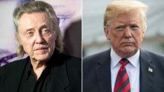 Christopher Walken and Donald Trump