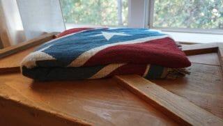 confederate woven throw