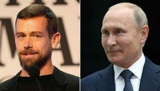 Twitter CEO Jack Dorsey/Russian President Vladimir Putin