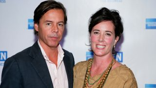 NEW YORK - JULY 27: Andy Spade, CEO and Creative Director of Kate Spade, and designer Kate Spade attend OPEN from American Express' 'Making a Name for Yourself' at Nokia Theater July 27, 2006 in New York City. (Photo by Matthew Peyton/Getty Images For American Express)
