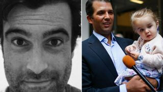 Pat Dussault/Donald Trump Jr. holding daughter Chloe