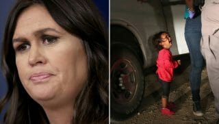 Sarah Sanders/Immigrant girl crying