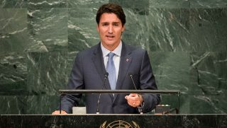 Prime Minister of Canada Justin Trudeau addresses the United Nations General Assembly at UN headquarters, September 20, 2016 in New York City.