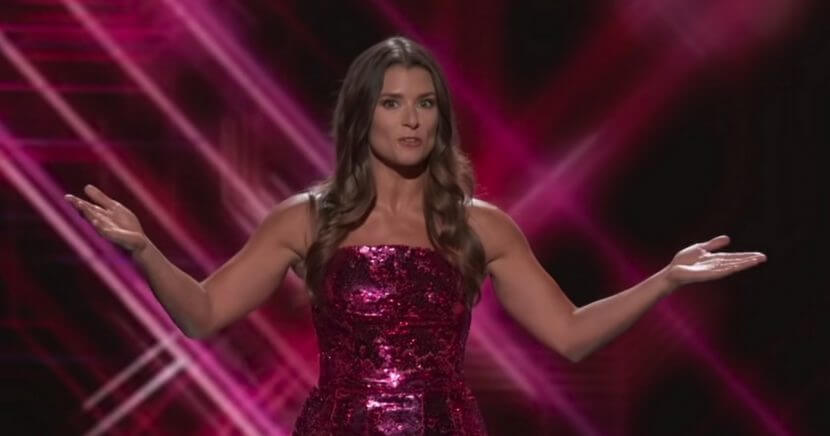 Danica Patrick during her monologue at the 2018 ESPYs