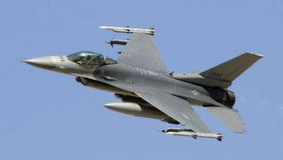 An F-16 Fighter Jet intercepted an airplane flying over the president's golf course in New Jersey.