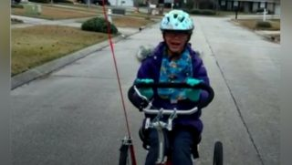 A young girl with special needs had her tricycle stolen out of her family's trailer, but a kind citizen returned the bike.