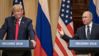 Donald Trump and Putin at Helsinki Summit