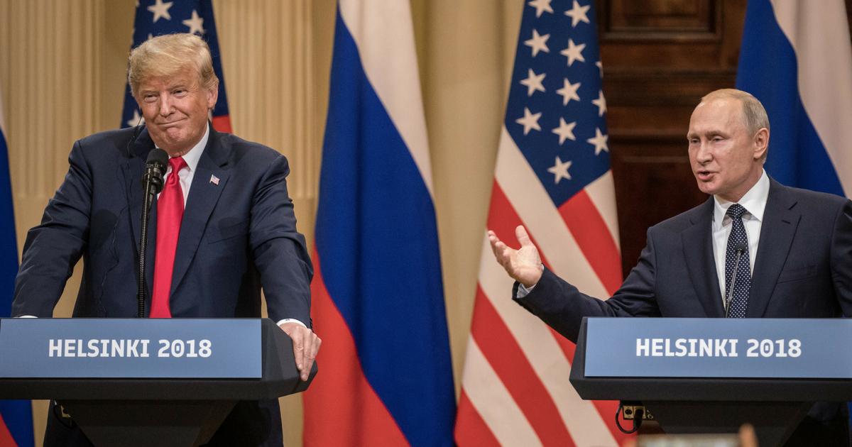 Donald Trump and Putin at Helsinki Summit