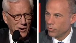 James Woods, left, and Michael Avenatti