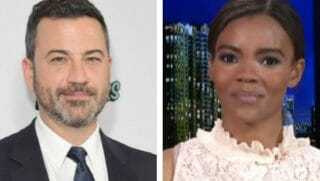 Jimmy Kimmel on the left with Candace Owens