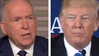 John Brennan, left, and President Trump