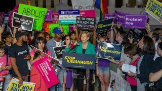 Elizabeth Warren leads Kavanaugh nomination protests
