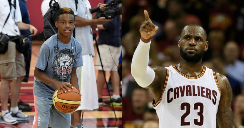 LeBron James' son was mocked on the sidelines of a game, with kids chanting 'Overrated' in his direction.