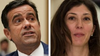 Lisa Page, right, with Texas GOP Rep. John Ratcliffe.