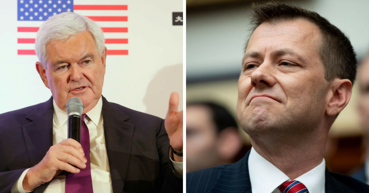 Peter Strzok Text Messages >> Newt Says What the Rest of Us Are Thinking: It's Time To Throw Peter Strzok in Jail