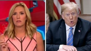 Newscaster Poppy Harlow vs. President Donald Trump