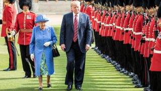 Queen Elizabeth and President Trump