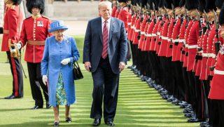 Queen Elizabeth and President Trump