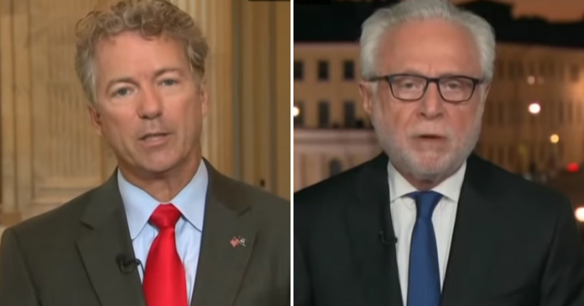Rand Paul talks with Wolf Blitzer.
