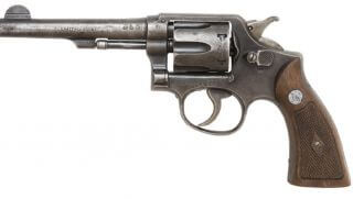 Picture of a Smith & Wesson .38 revolver.