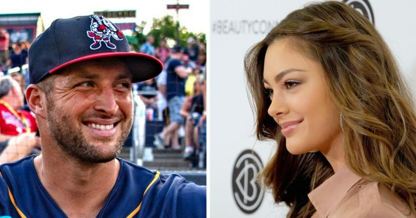 Tim Tebow, left, has made it official that he's involved with the reigning Miss Universe, Demi-Leigh Nel-Peters, right.
