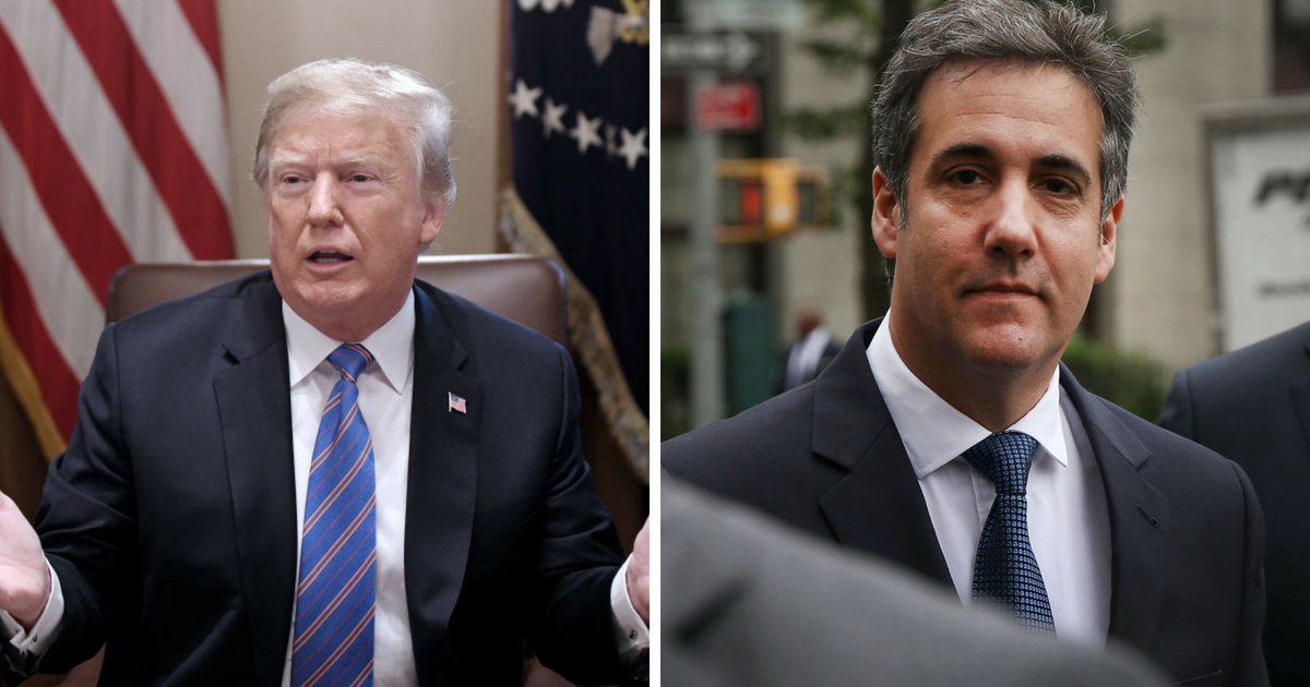 U.S. President Donald Trump speaks during a cabinet meeting with U.S. President Donald Trump in the Cabinet Room of the White House, July 18, 2018 in Washington, DC. ;Michael Cohen, a longtime personal lawyer and confidante for President Donald Trump, arrives with his lawyers at the United States District Court Southern District of New York on May 30, 2018 in New York City.