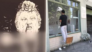 Gallery owner takes down disturbing image of Trump
