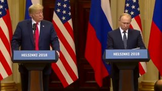 Trump and Putin at Helinski Summit