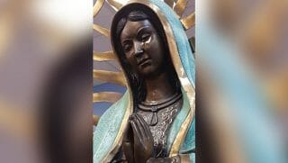 A Catholic church in New Mexico is experiencing a phenomenon where their statue of Mary has actually been weeping an olive oil substance for about a month.