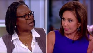 Whoopi Goldberg and Judge Pirro