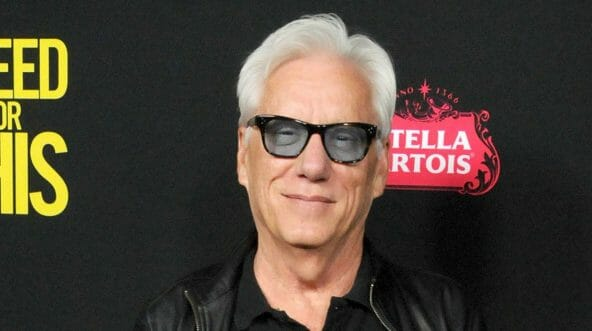Actor James Woods arrives at the premiere of Open Road Films' 'Bleed For This.'