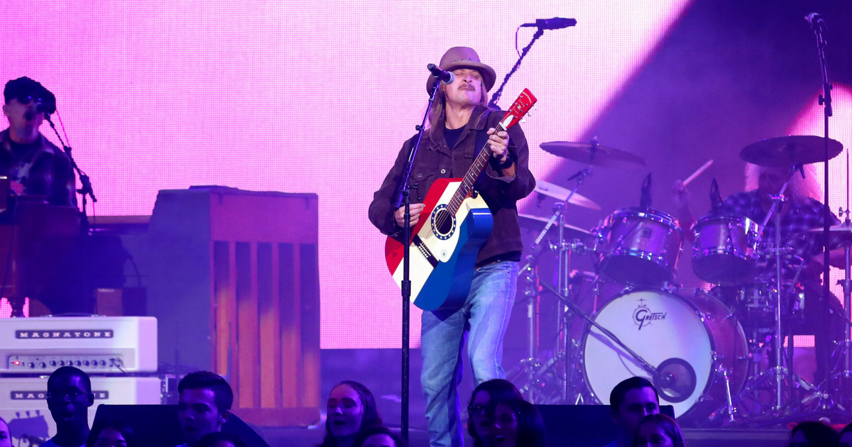 Entertainer Kid Rock performs on stage