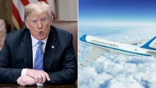 President Donald Trump/Air Force One