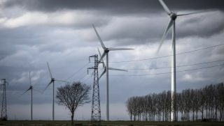 Wind turbines on the countryside