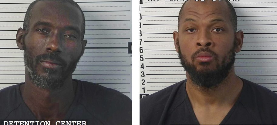 Mugshots of Lucas Morton and SIraj Wahhaj who were arrested following a raid on the New Mexico complex.