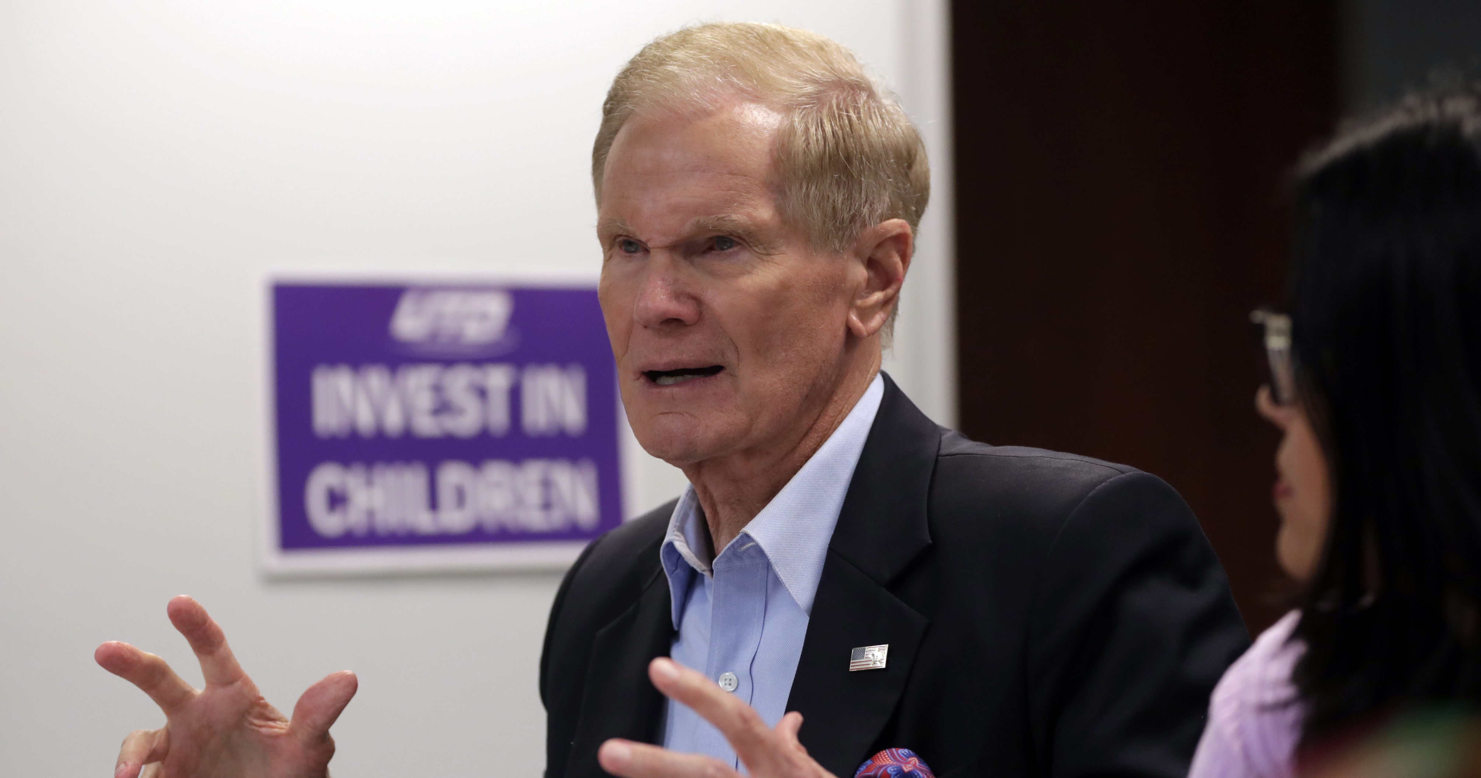 n this Aug. 6, 2018, photo, Sen. Bill Nelson, D-Fla., speaks during a roundtable discussion with education leaders from South Florida at the United Teachers of Dade headquarters in Miami. Nelson says Russian operatives have penetrated some of his state's election systems ahead of this year's midterms. But Florida state officials said Wednesday, Aug. 8, that they have no information to support the claim