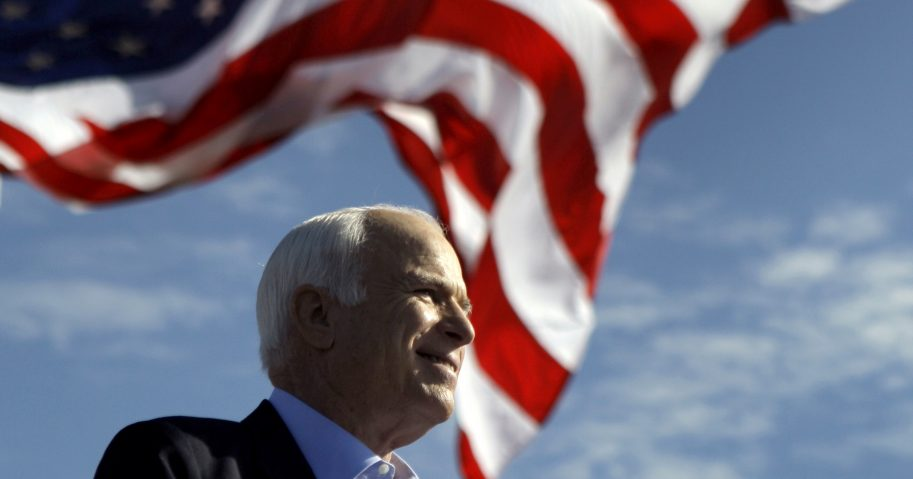 Republican presidential candidate Sen. John McCain, R-Ariz., speaks at a rally in Tampa, Florida.