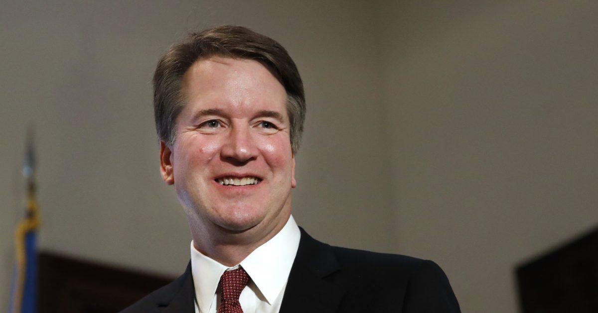 Supreme Court nominee Judge Brett Kavanaugh on Capitol Hill in Washington