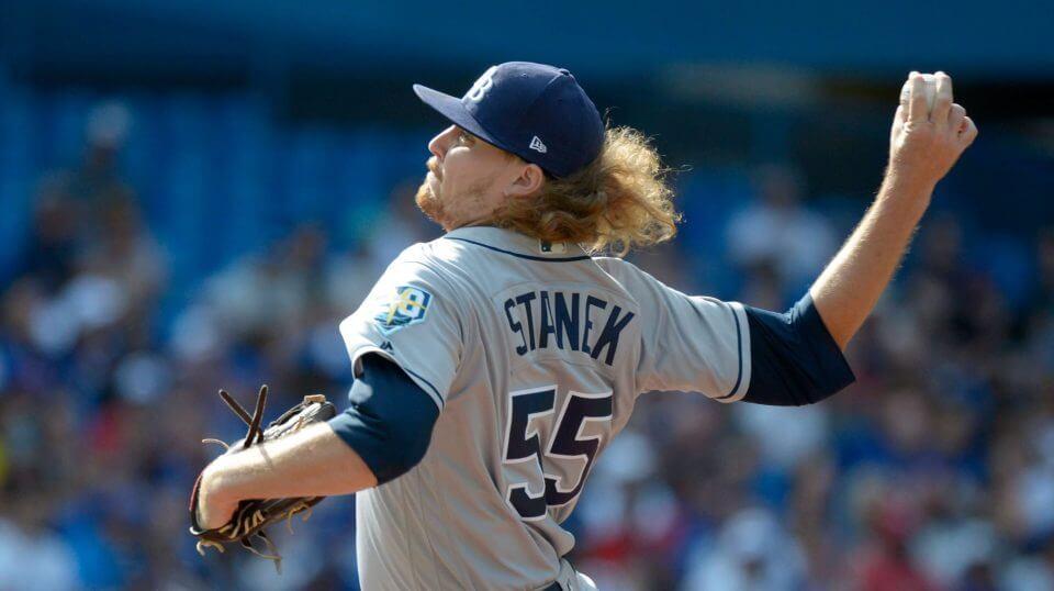 Tampa Bay Rays pitcher Ryne Stanek