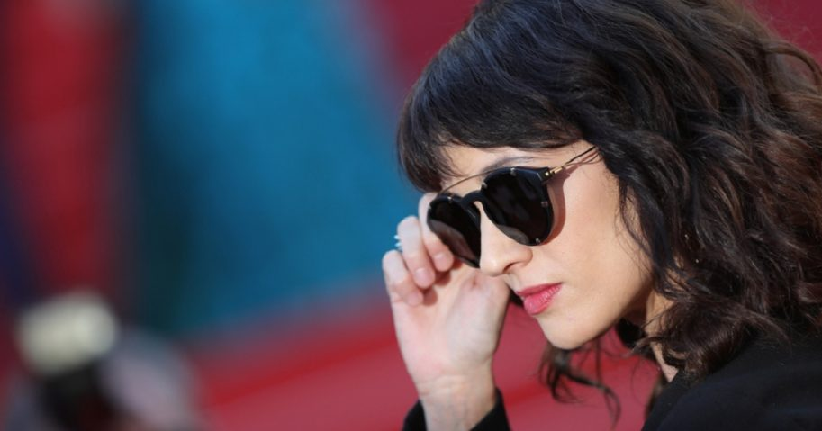Asia Argento in a pair of sunglasses at the Cannes Film Festival in May 2018.