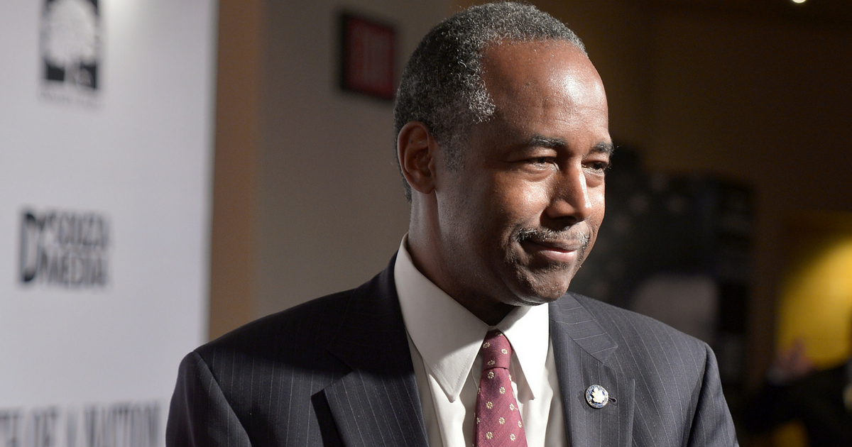Dr. Ben Carson attends the DC premiere of the film, 'Death of a Nation,' at E Street Cinema on August 1, 2018 in Washington, DC.