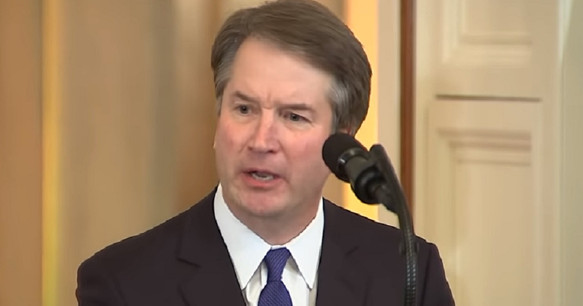 Supreme Court nominee Brett Kavanaugh is pictured during his speech accepting President Donald Trump's nomination on July 9, 2018.